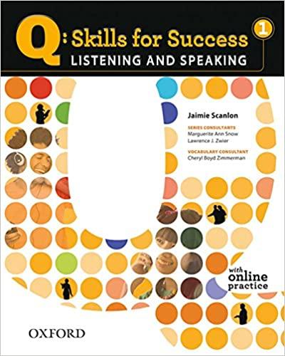 q skills Listening and Speaking 1