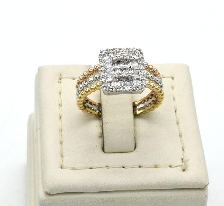 خاتم الماس ب 3 الوان